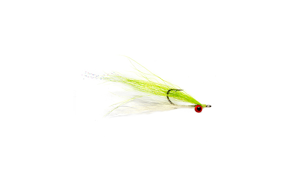 Clouser Minnow Chartreuse & White