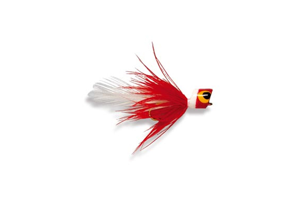 Bluegill Bug Popper Red & White