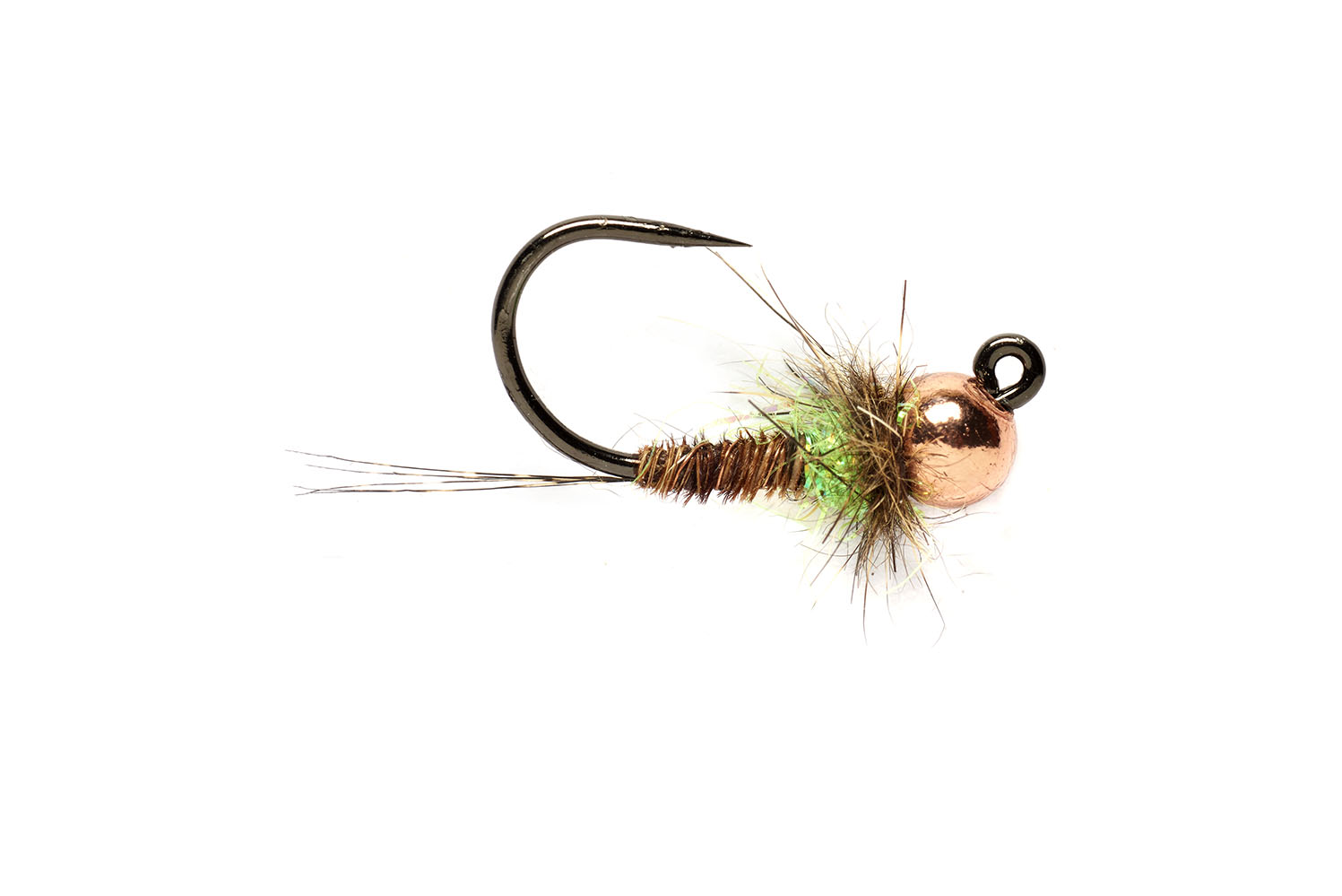 Hot Spot Pheasant Tail Jig Chartreuse Barbless