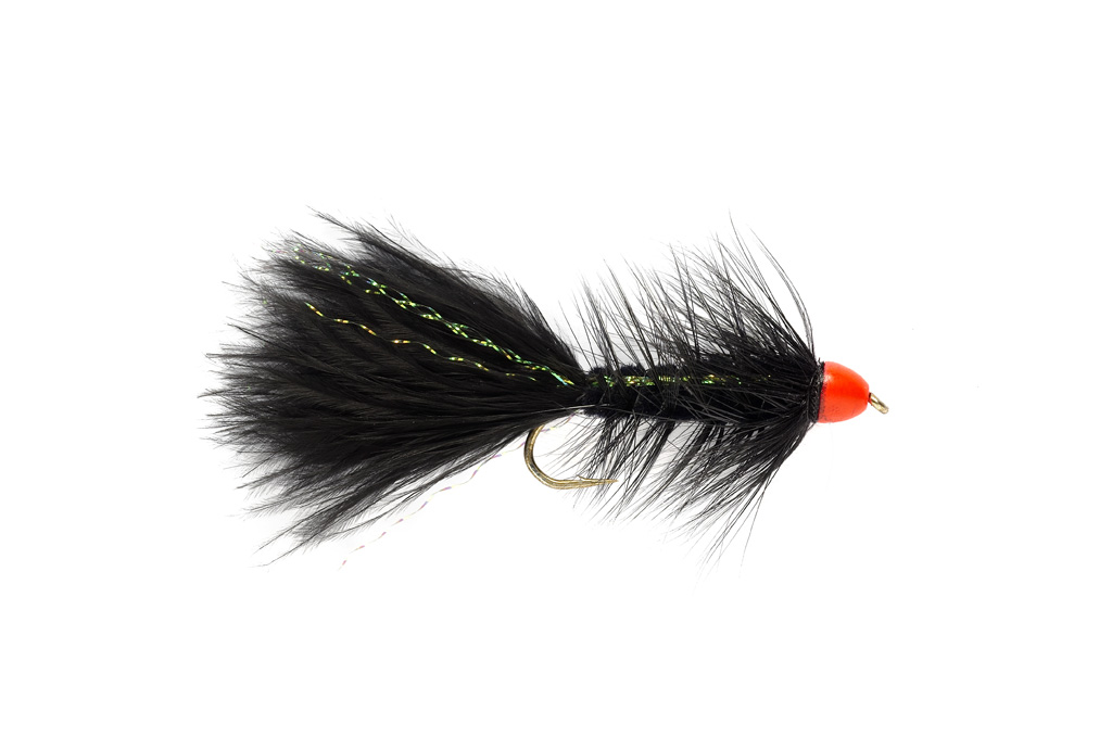Hot Cone Woolly Bugger Black & Orange