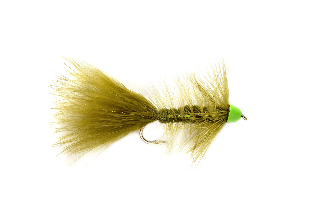 Hot Cone Woolly Bugger Olive & Chartreuse