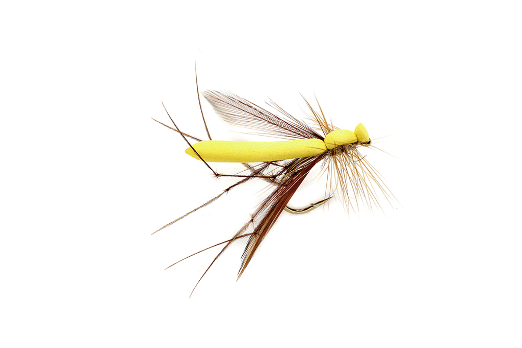Adult Crane Yellow S10 Fishing Fly   Dry Flies   Fulling Mill