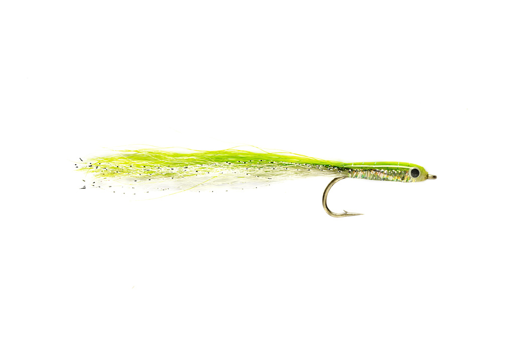 Mikkleson's Epoxy Baitfish Chartreuse & White