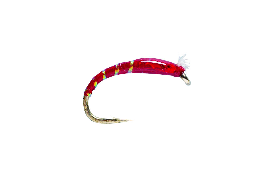 3D Glass Chironomid Red