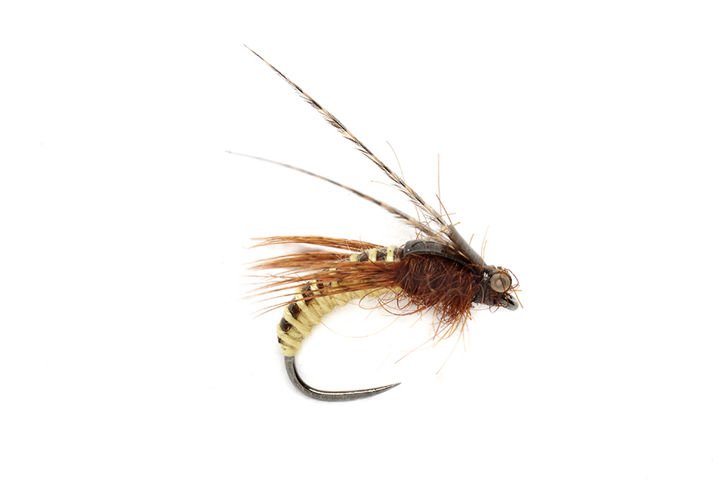 McPhail Caddis Pupa Yellow Barbless
