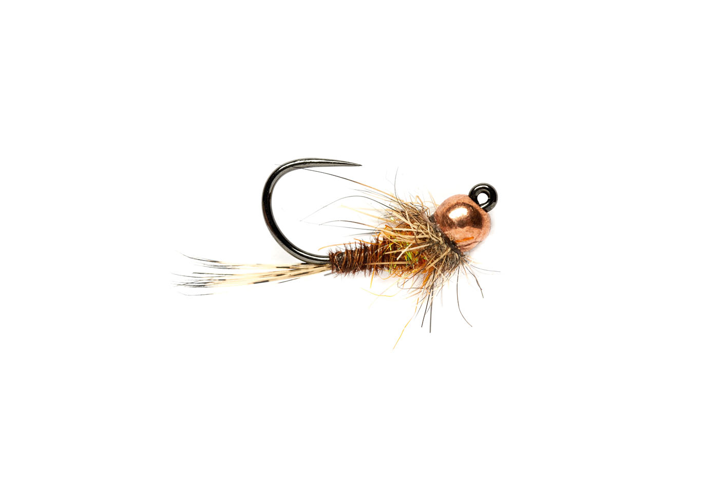 Hot Spot Pheasant Tail Jig Orange (TBH) Barbless
