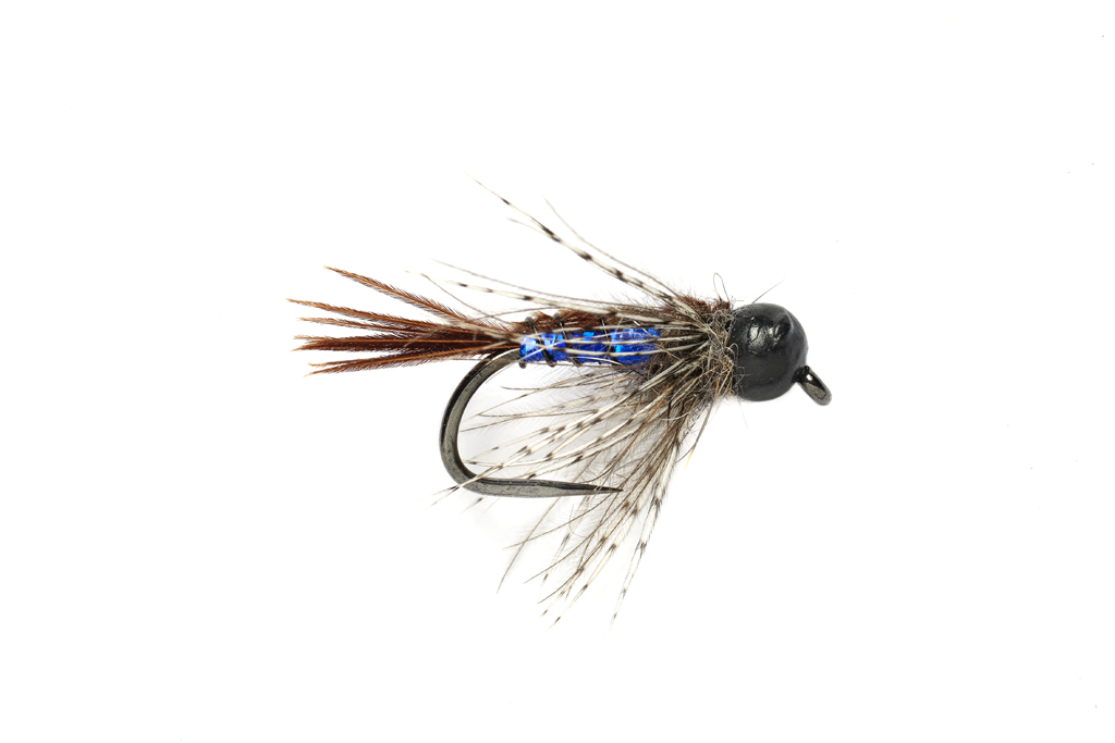 Tinsel Trout Stacker Blue Barbless