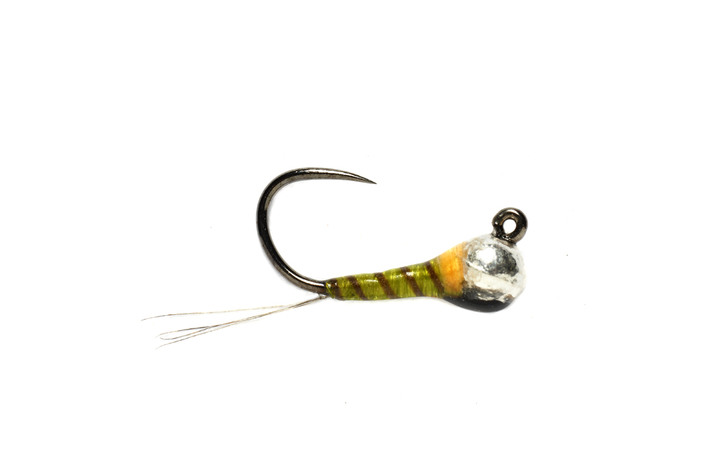 Olive Hot Spot Jig Barbless