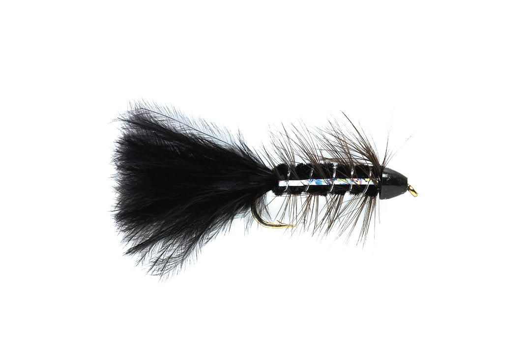 Wooly Bugger Black Flash Conehead