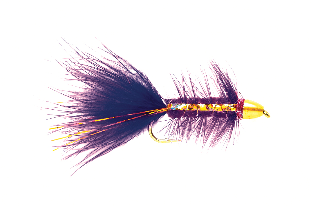 Woolly Bugger Purple Flash Conehead