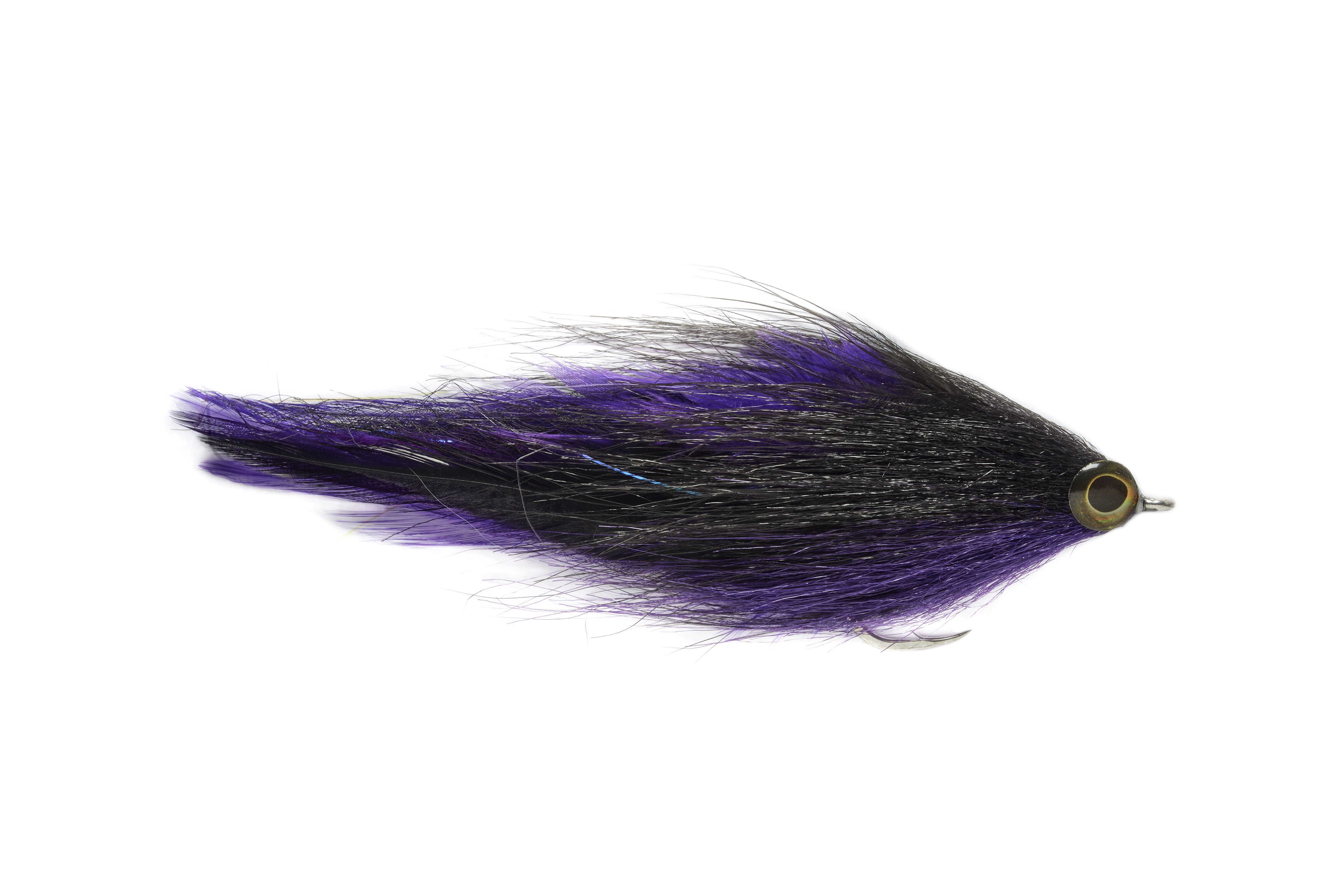 Two Tone Brushy Black & Purple