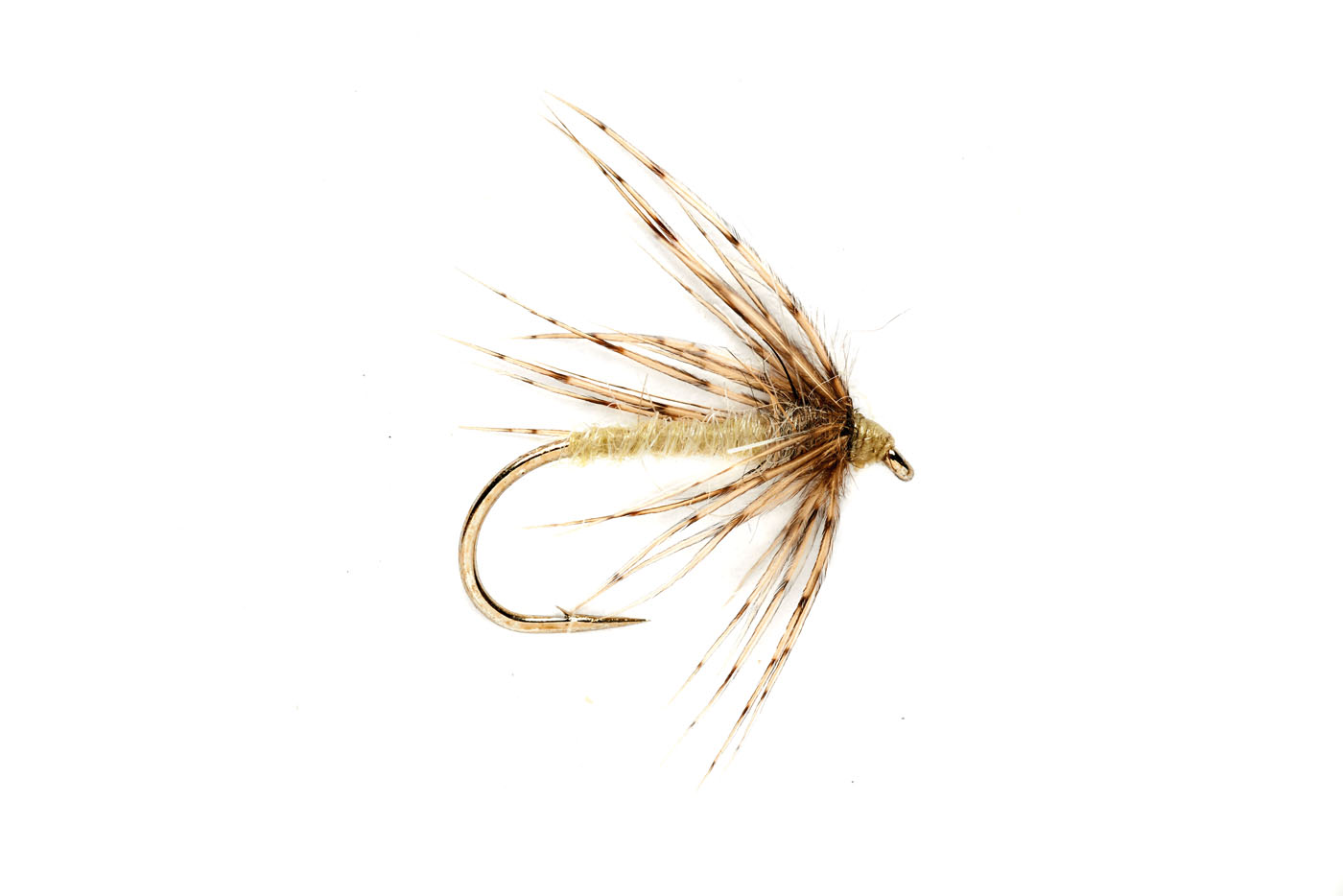 Wet flies soft hackle spider caddis pale yellow for Wet fly fishing