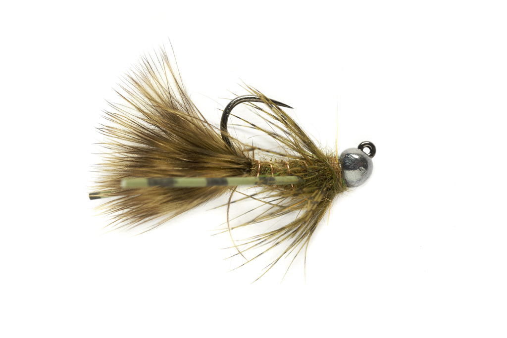 Tungsten Jig Bugger Olive Barbless