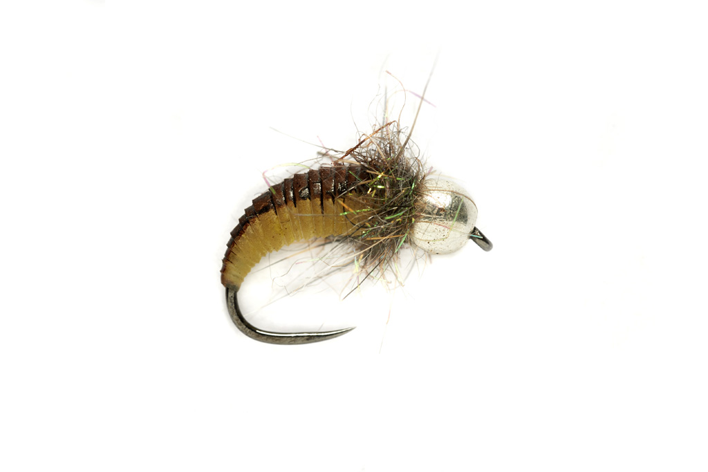 Barbless Rubber Grub Olive