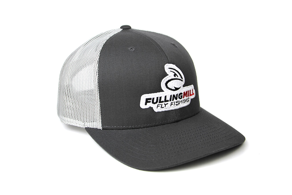 Pre Curved Trucker Cap Gray with FM badge