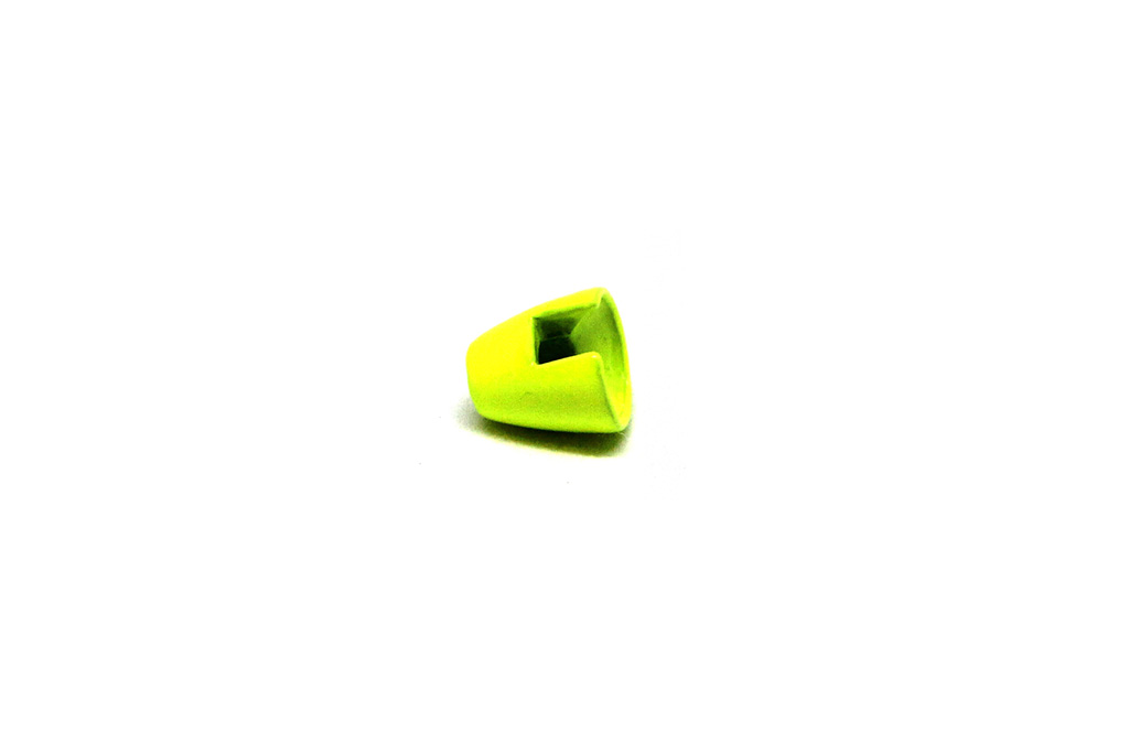Slotted Tungsten Conehead Painted Fluorescent Chartreuse