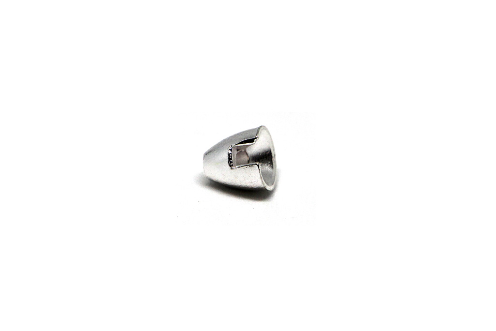 Slotted Tungsten Conehead Silver