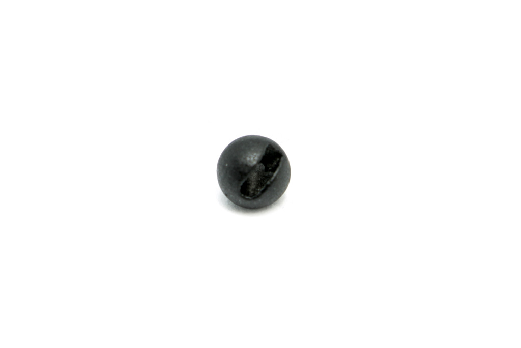 Slotted Tungsten Beads Matte Black