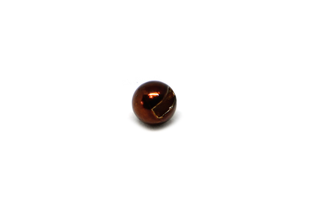 Slotted Tungsten Beads Metallic Brown
